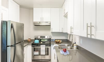 Kitchen, Bridgecreek Apartments, 0