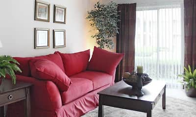 Living Room, Knollwood Village Apartments, 1