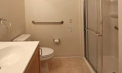 Bathroom, Harborcreek Senior Apartments, 2