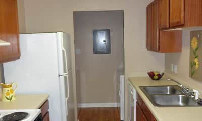 Kitchen, Village Crossing Apartments, 2