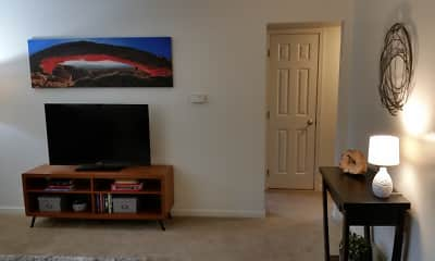 Living Room, Scotsdale Apartments, 2