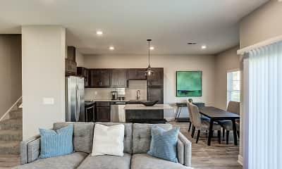 Living Room, Michigan Meadows Townhomes, 1