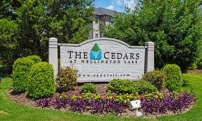 Community Signage, The Cedars at Wellington Lake, 2