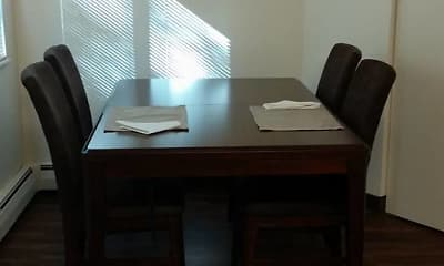 Dining Room, Oak Hill Apartments, 1