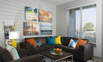 Living Room, BLVD63 - Lease by the Bedroom, 1