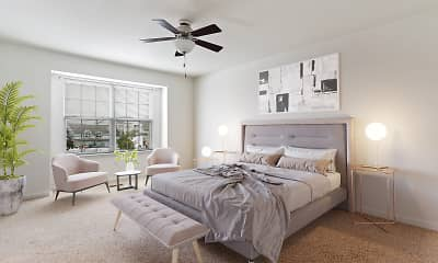 Bedroom, Crooked Hill Townhomes, 1