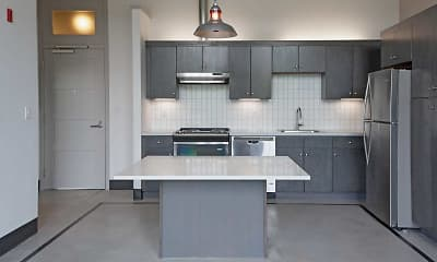 Kitchen, Loom City Lofts, 1
