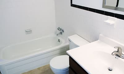 Bathroom, Mercury West Apartments, 2