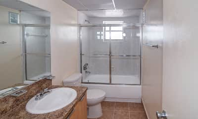 Bathroom, Sunset Apartments, 2