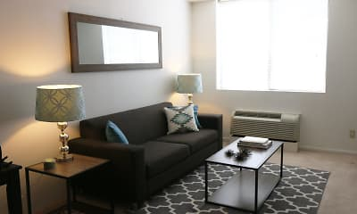 Living Room, Westbrook Tower Apartments, 1