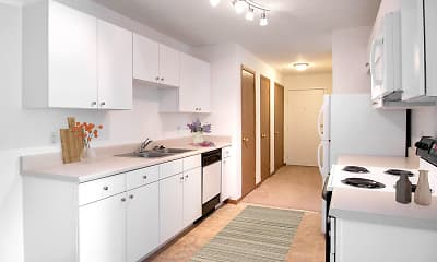 Kitchen, Flatwater Apartments, 1