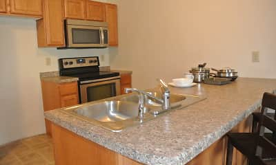 Kitchen, Prairie Flats, 1