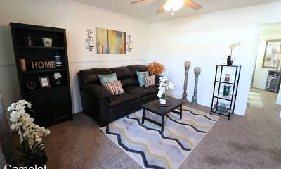 Living Room, Camelot Apartments, 2
