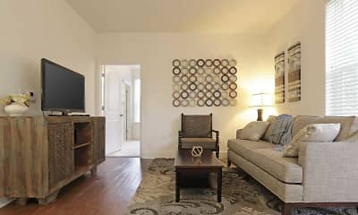 Living Room, Jackson Walk Apartments, 1