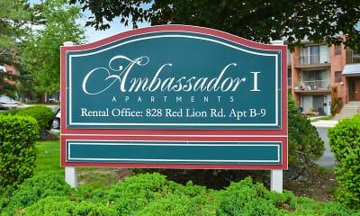 Community Signage, Ambassador Apartments, 1