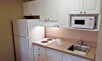 Kitchen, Furnished Studio - Boston - Waltham - 32 4th Ave., 1