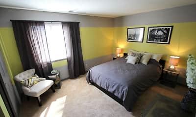 Bedroom, Landmark Apartments & Townhomes, 1