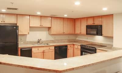 Kitchen, Mount Vernon Plaza, 1