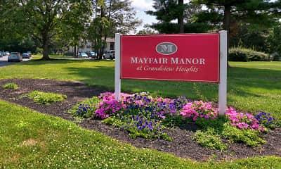 Community Signage, Mayfair Manor, 2