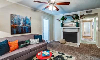 Living Room, Emberwood Apartments, 0