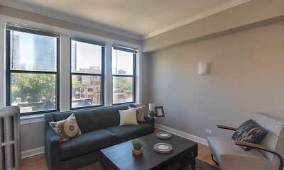 Living Room, 2828 N. Pine Grove, 2