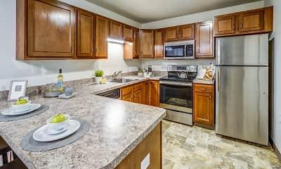 Kitchen, Pleasant Run Senior Apartments, 0