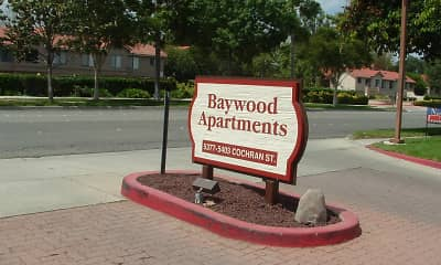 Community Signage, Baywood Apartments, 1
