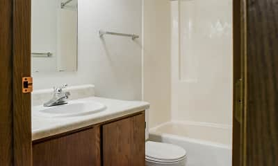 Bathroom, Prairie Tree Apartments, 2