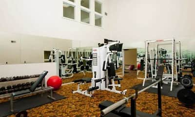 Fitness Weight Room, Belmont Ridge Apartments, 2