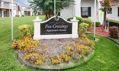 Community Signage, Fox Crossings, 1