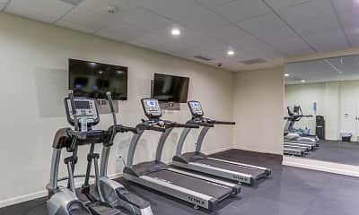 Fitness Weight Room, Marine View Apartments, 2