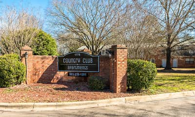 Community Signage, Country Club Apartments, 1