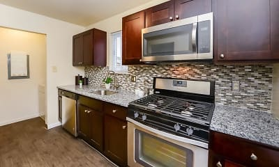 Kitchen, Fox Run Apartments & Townhomes, 1