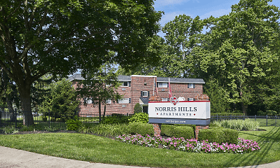 Community Signage, Norris Hills Apartments, 1