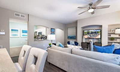 Living Room, The Arbors at Carrollwood Apartments, 2