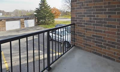 Patio / Deck, Hillside Apartments, 2