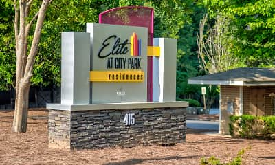 Community Signage, Elite at City Park, 2