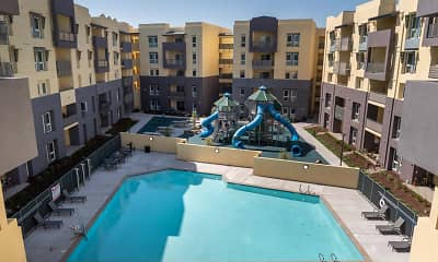 Pool, Alexander Station Apartments, 2
