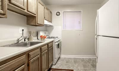 Kitchen, Parkway Apartments, 1