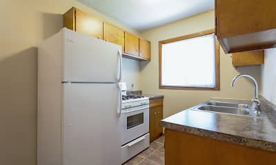 Kitchen, Moore Lake Apartments, 1