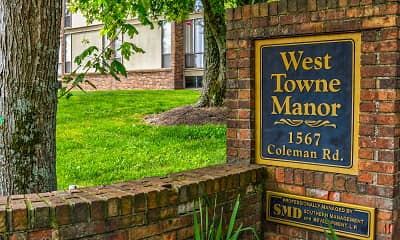 Community Signage, West Towne Manor, 2
