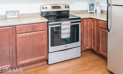 Kitchen, T-Lofts Apartments, 2