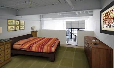 Bedroom, Roebling Lofts, 1
