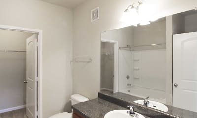 Bathroom, Trellis Apartments, 2