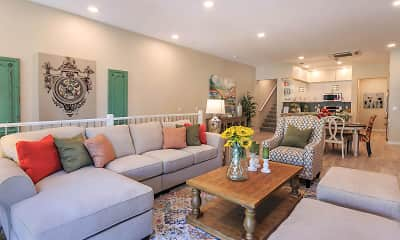 Living Room, Mayfair Townhomes, 2