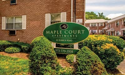 Community Signage, Maple Court Apartments, 0