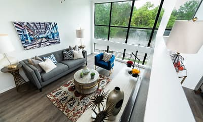 Living Room, Lofts On Hulen, 0