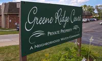 Community Signage, Greene Ridge Court Apartments, 2