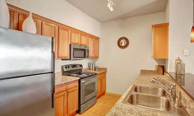Kitchen, The Vintage Apartment Homes, 1
