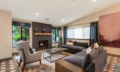 Living Room, Mariners' Glen Apartment Homes, 1